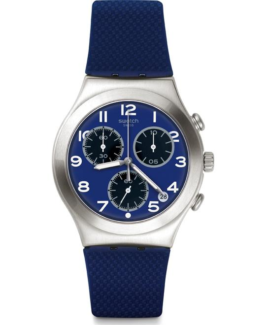 Swatch Sweet Sailor Blue Dial Blue Silicone Watch 40mm