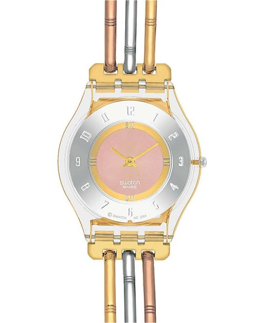 Swatch Swiss Tri-Gold Small Tri-Tone Watch  34mm
