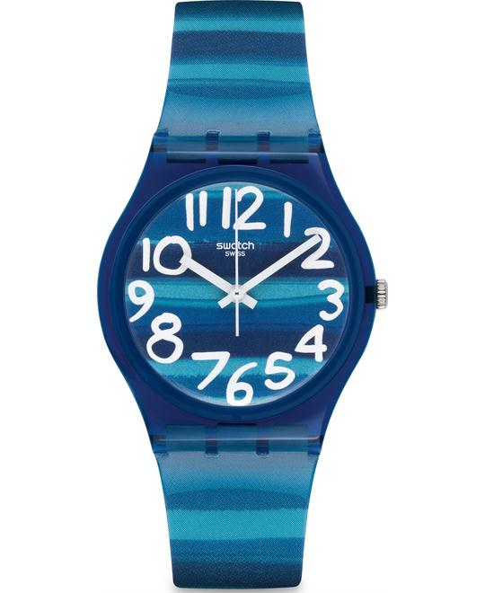Swatch Unisex Blue Plastic Watch 33mm