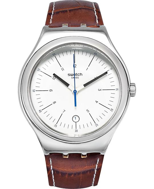 Swatch Unisex Swiss Appia Brown Watch 41mm