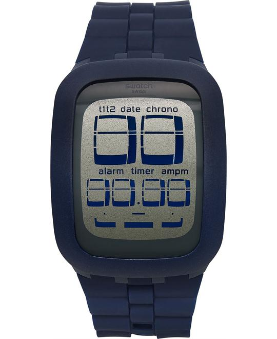 Swatch Unisex Swiss Blue Silicone Watch 39mm