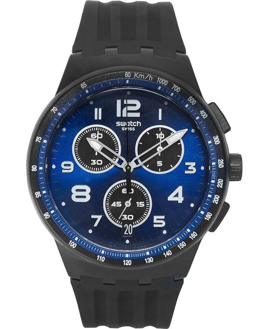 Swatch Unisex Swiss Chronograph Silicone Watch 42mm