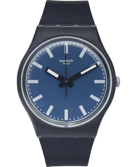 Swatch Unisex Swiss Nightsea Silicone Watch 34mm