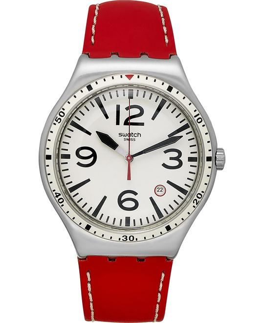 Swatch Unisex Swiss Red Watch 41mm