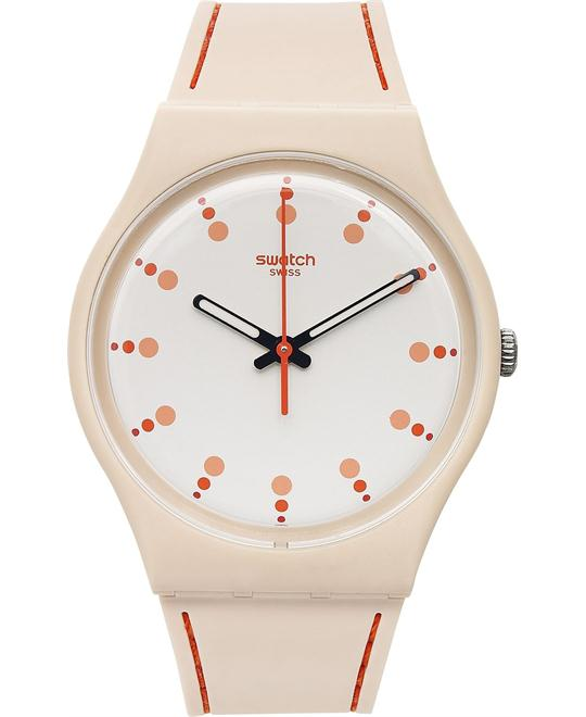 Swatch Unisex Swiss Silicone Watch 34mm