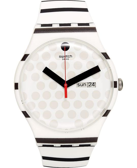 Swatch Unisex Swiss Zebratian Silicone Watch 41mm