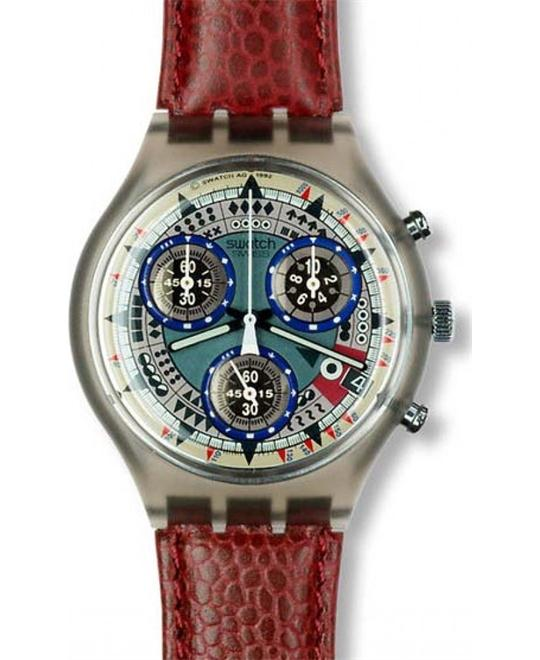 Swatch watch chronograph ATZ ECO 1994  Leather, 36mm