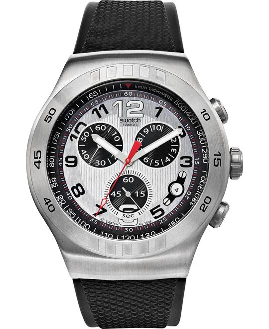 Swatch Watch, Men's Swiss Chronograph Black, 47mm