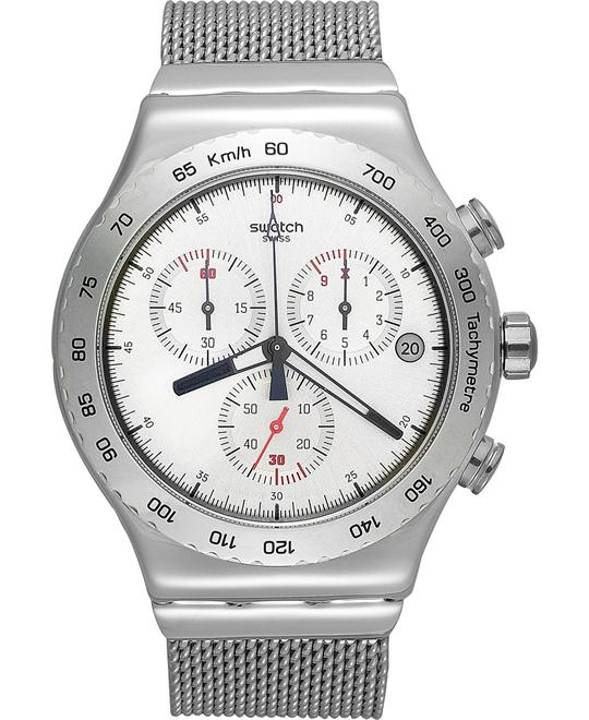 Swatch Watch, Men's Swiss Chronograph Silverish 43mm