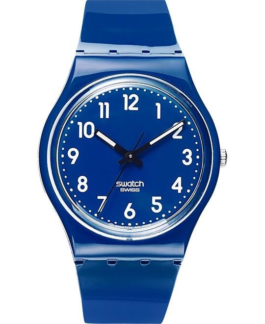 Swatch Watch, Unisex Swiss Blue Polyurethane, 34mm