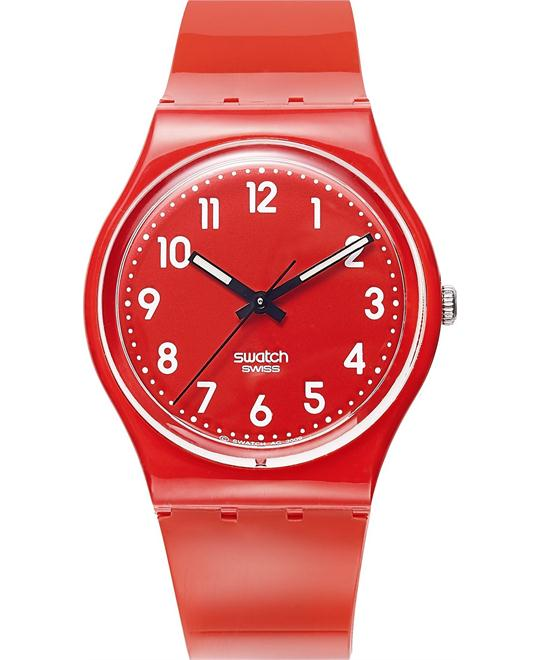 Swatch Watch, Unisex Swiss Cherry-Berry Shiny Red , 34mm
