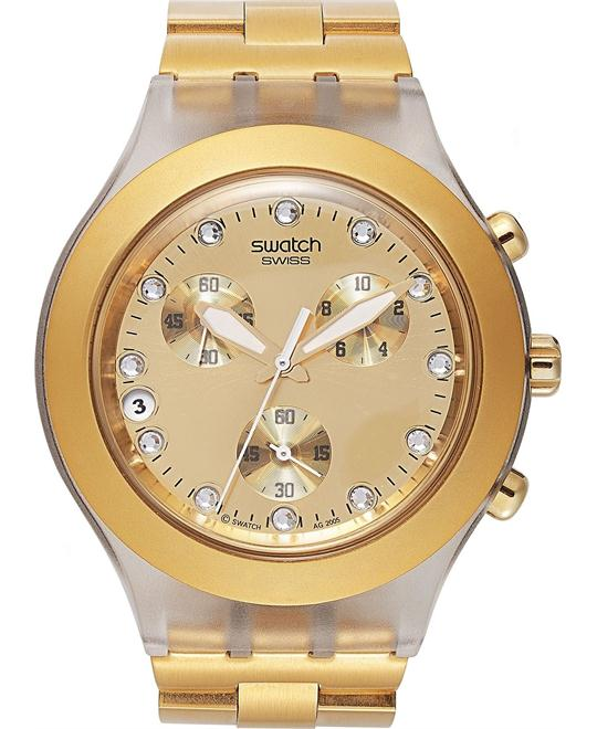 Swatch Watch, Unisex Swiss Chronograph Gold-Tone, 43mm