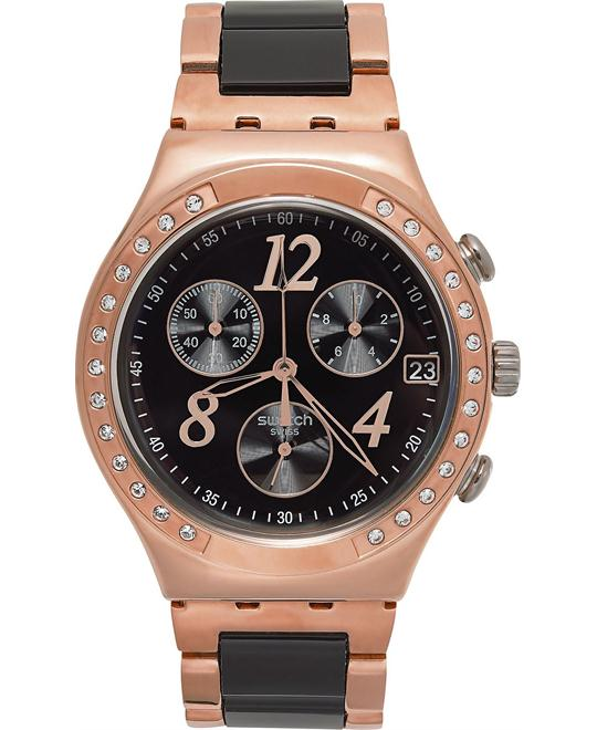 Swatch Watch, Unisex Swiss Chronograph Rose Gold 40mm