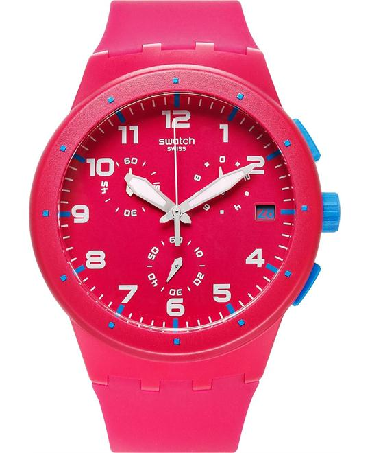 Swatch Watch, Unisex Swiss Chronograph Silicone, 42mm