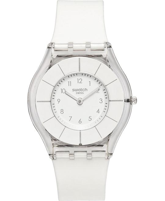 Swatch Unisex Swiss Classiness White Silicone Watch 34mm