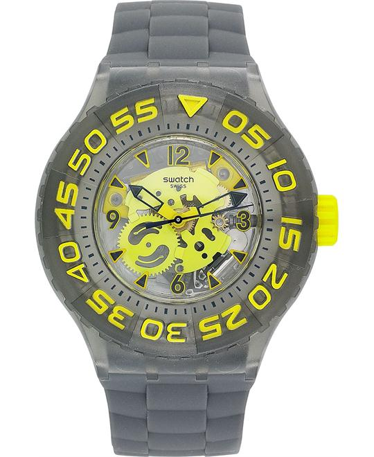 Swatch Watch, Unisex Swiss Cuttlefish Silicone, 44mm