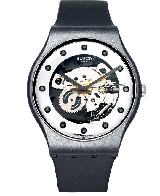 Swatch Watch, Unisex Swiss Glam Black Silicone, 41mm