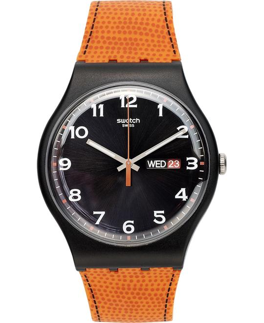 Swatch Watch, Unisex Swiss Orange Silicone, 41mm