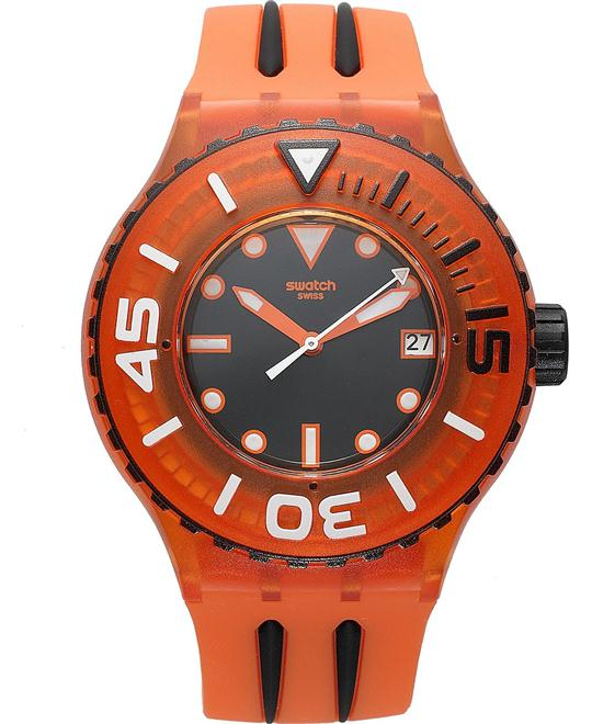 Swatch Watch, Unisex Swiss Orange Silicone, 44mm