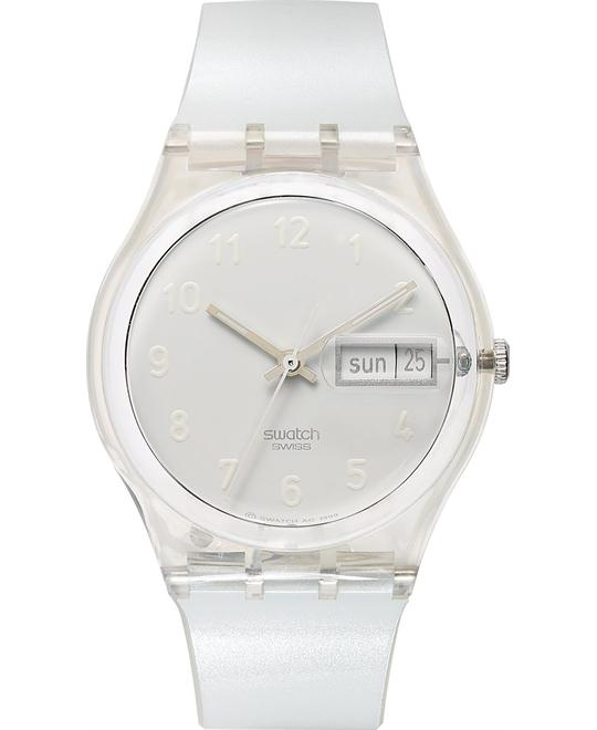 Swatch Watch Unisex Swiss Snowcovered Plastic, 34mm