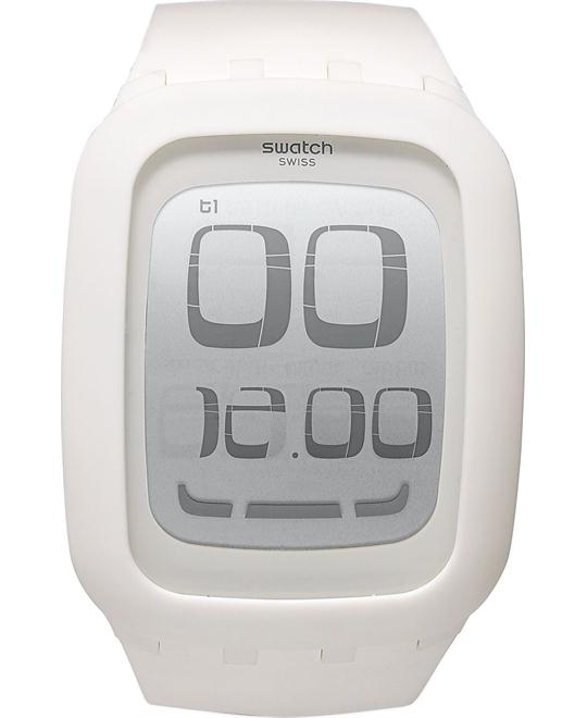 Swatch Watch, Unisex Swiss Touch White Silicone, 39mm