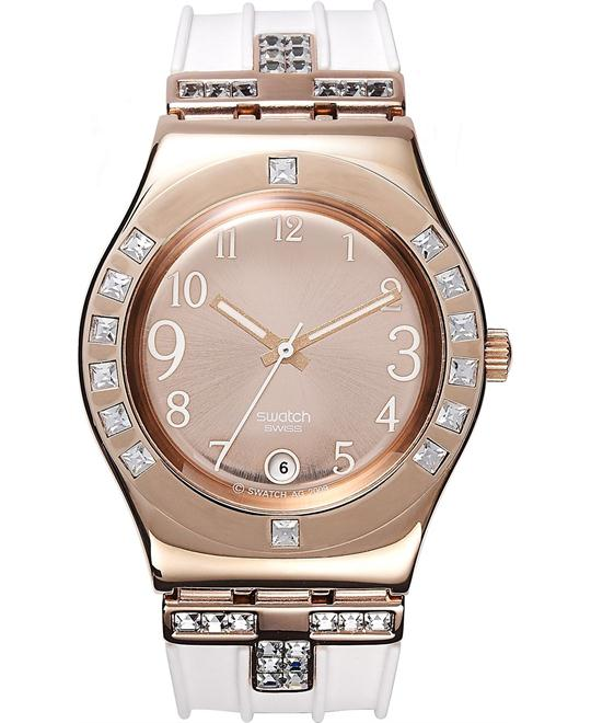 Swatch Watch, Women's Swiss Fancy Me Pink White, 33mm