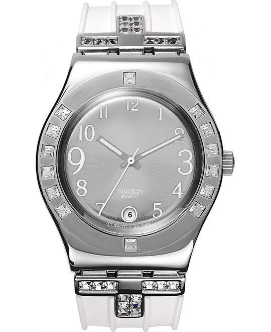 Swatch Watch, Women's Swiss Fancy Me White,33mm