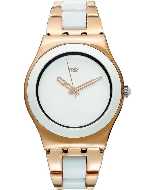 Swatch Watch, Women's Swiss Rose Gold 33mm