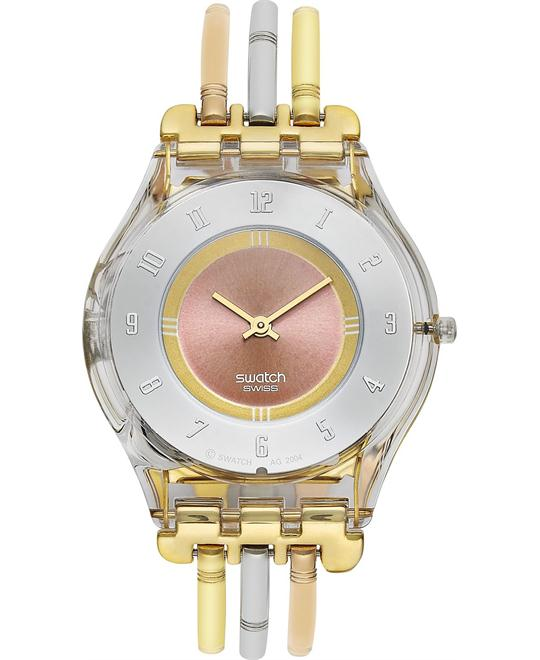 Swatch Watch, Women's Swiss Tri-Gold Large Three Bar, 34mm