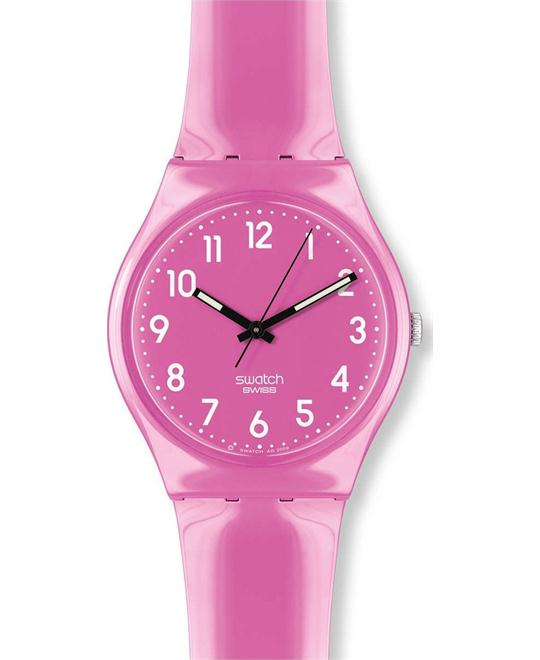 Swatch Women's Pink Plastic Watch 30mm