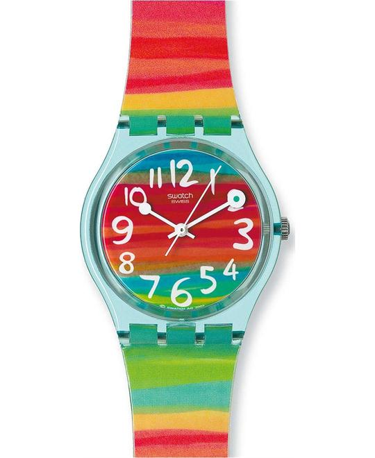 Swatch Women's Rainbow Dial Plastic Watch 33mm