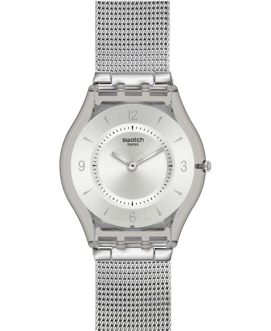 Swatch Stainless Silver Casual Watch 34mm
