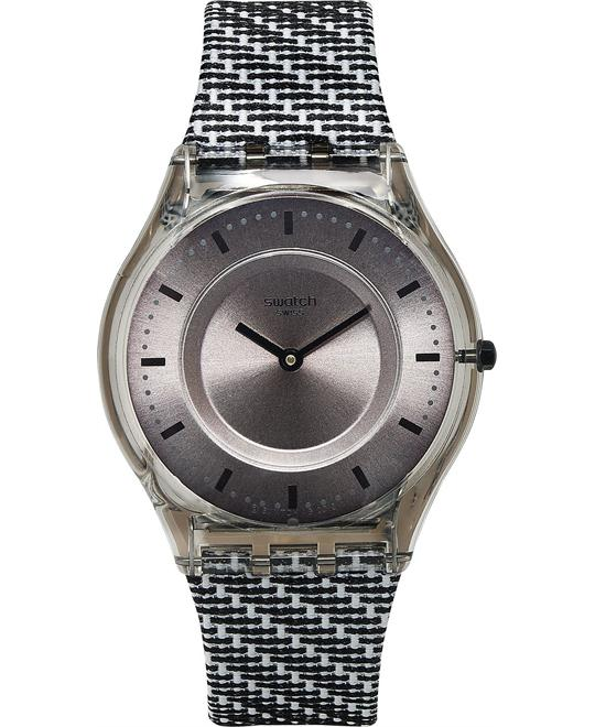Swatch Women's Swiss Black & White Watch 34mm