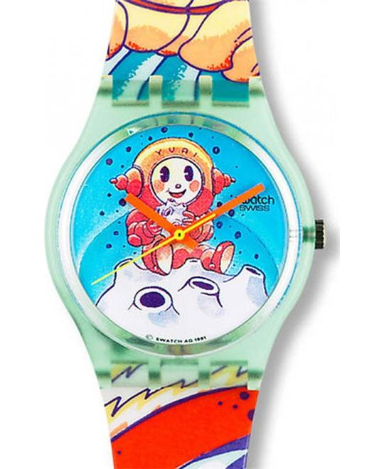 Swatch Yuri Plastic Swiss Quartz Watch 34mm