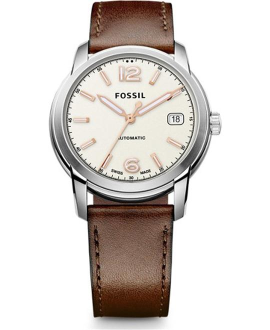 FOSSIL SWISS FS-5 SERIES AUTOMATIC BROWN WATCH 38mm