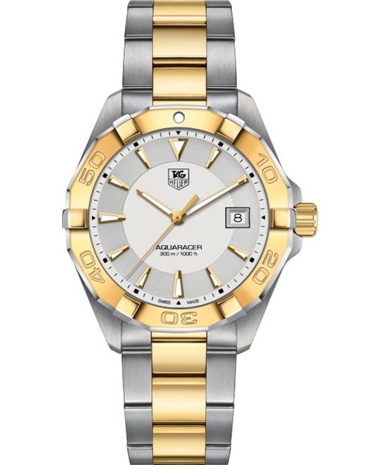Tag Heuer Aquaracer Silver Dial Two-tone Mens Watch 41mm