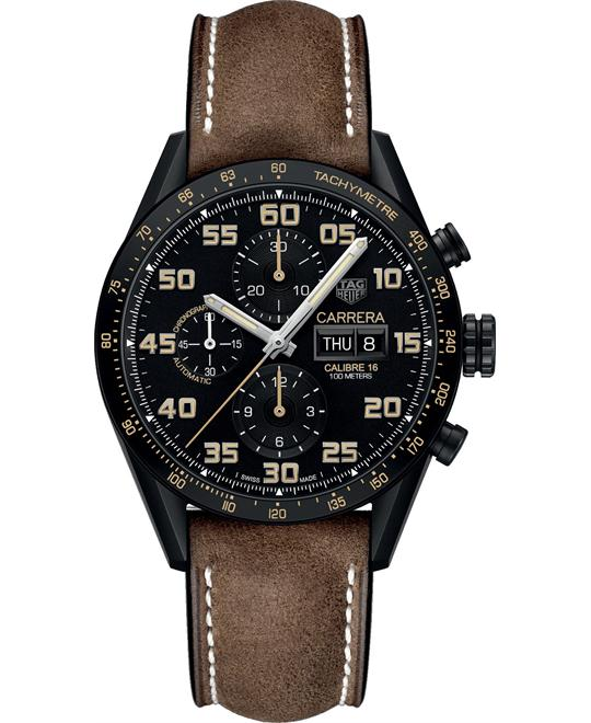 TAG HEUER CARRERA  CALIBRE 16 WATCH 43MM
