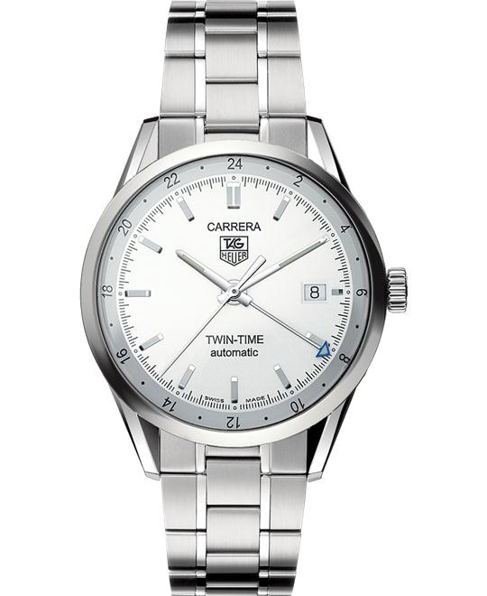 TAG HEUER Carrera WV2116.BA0787 Twin Time Watch 39mm