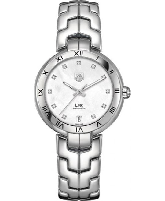 TAG Heuer WAT2315.BA0956 Link Diamond Roman Numeral Automatic 34.5mm