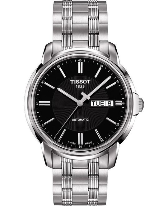 TISSOT Automatics III Black Dial Steel Men's Watch 39mm