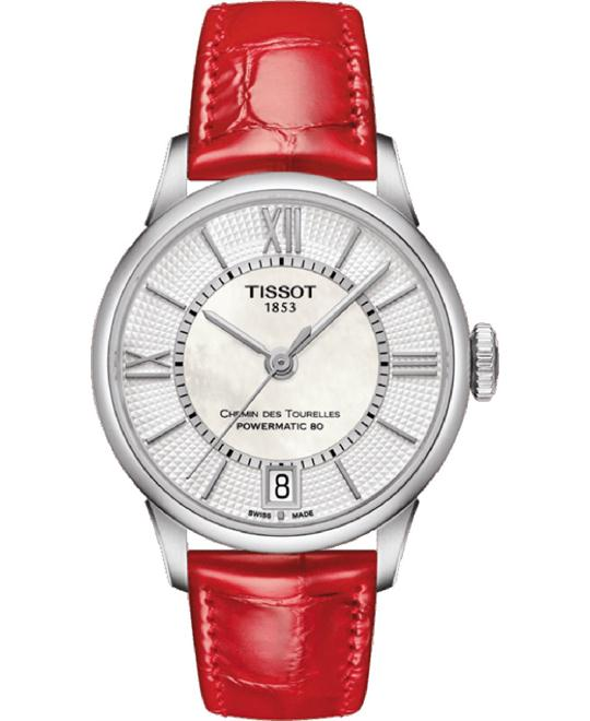 TISSOT CHEMIN DES TOURELLES AUTOMATIC LADY WATCH 32MM