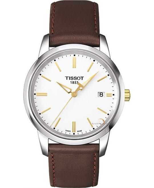 Tissot Classic Dream White Quartz Leather Men's watch 38mm