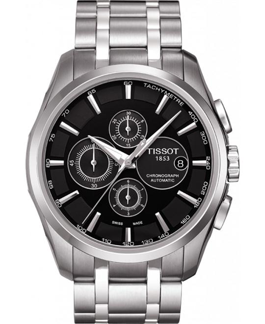 TISSOT Couturier Black Men's Watch 43mm
