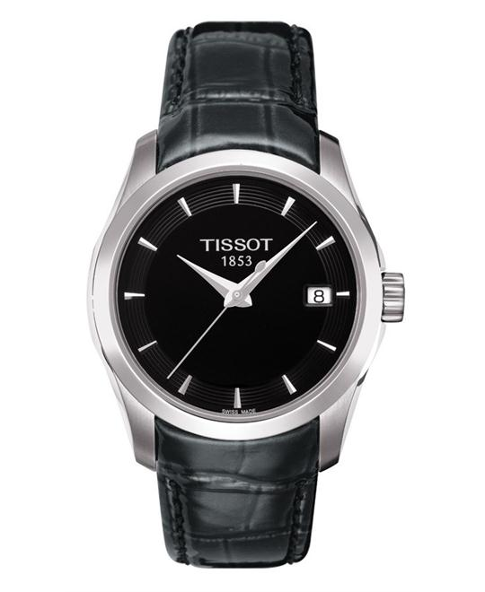TISSOT Couturier Ladies Black Quartz Trend Watch 32mm