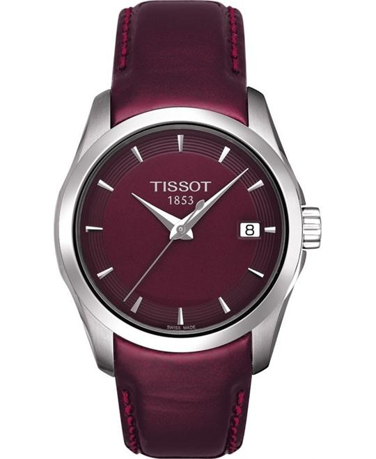 TISSOT Couturier Ladies Bordeaux Quartz Trend Watch 32mm