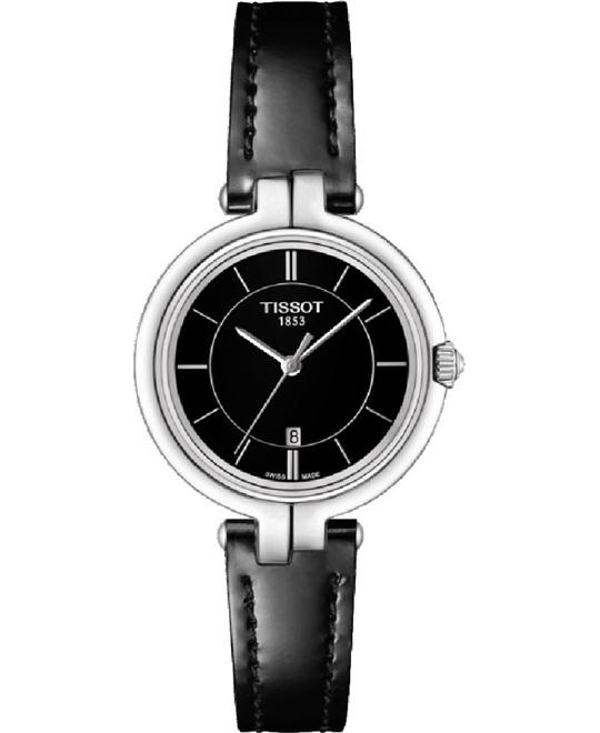 TISSOT Flamingo Black Ladies Quartz Watch 26mm