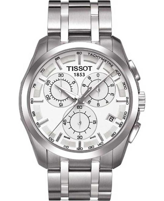 Tissot Men's Couturier Silver Dial Watch 42mm