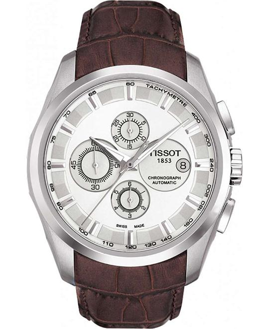Tissot Men's Couturier White Chronograph Dial Watch 43mm