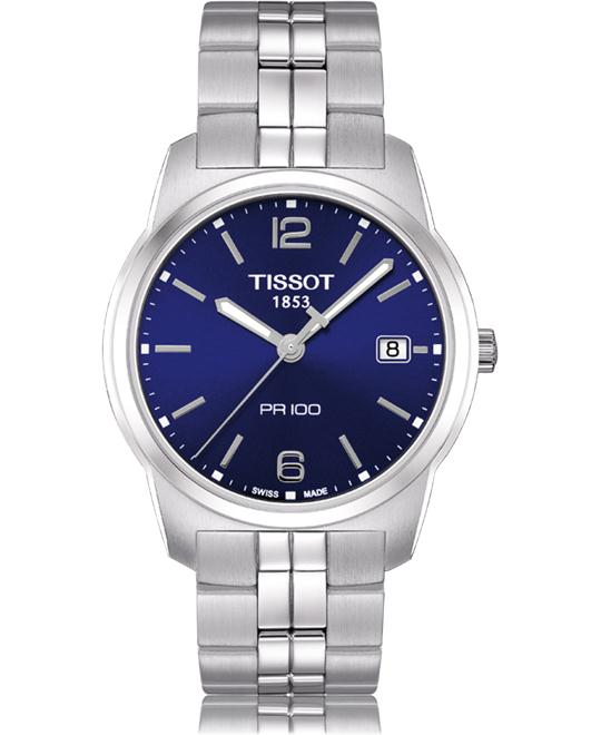 Tissot Men's PR 100 Blue Dial Bracelet Watch 38mm