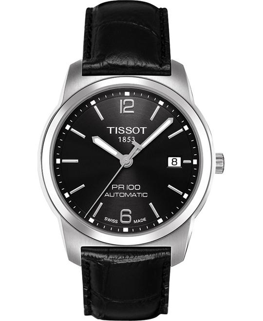 Tissot Men's Swiss Automatic Leather Watch 40mm